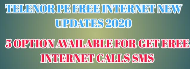 TELENOR PE FREE INTERNET 2020 UPDATES