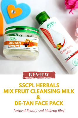 SSCPL Herbals Mix Fruit Cleansing Milk &  De-tan Face Pack Review