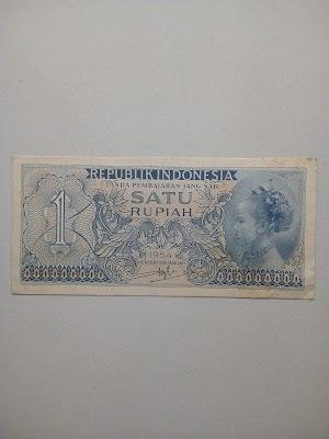 1 rupiah tahun 1954