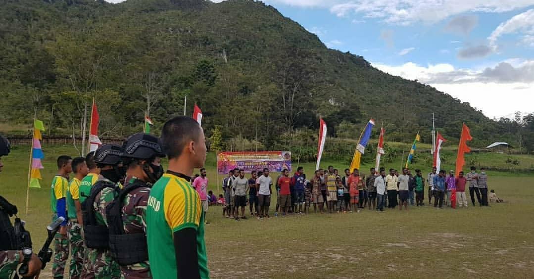 Satgas Yonif Para Raider 432 Kostrad Bantu Salurkan Hobi Pemuda Bolakme