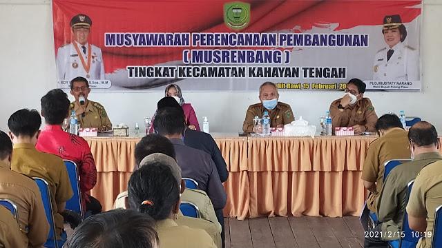 Asisten II Buka Musrenbang Kecamatan Kahayan Tengah