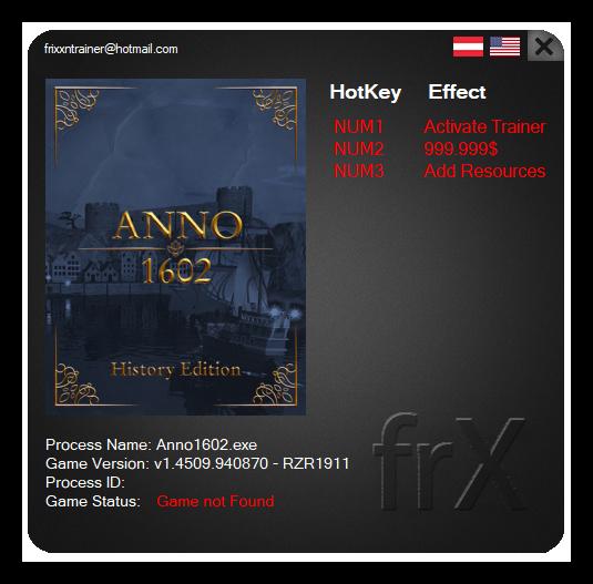 Anno 1404 - History Edition: Trainer (+2) [1.4509.940870]