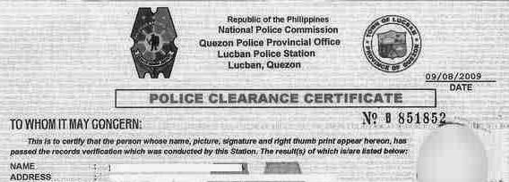 List of Requirements When Getting a Police Clearance