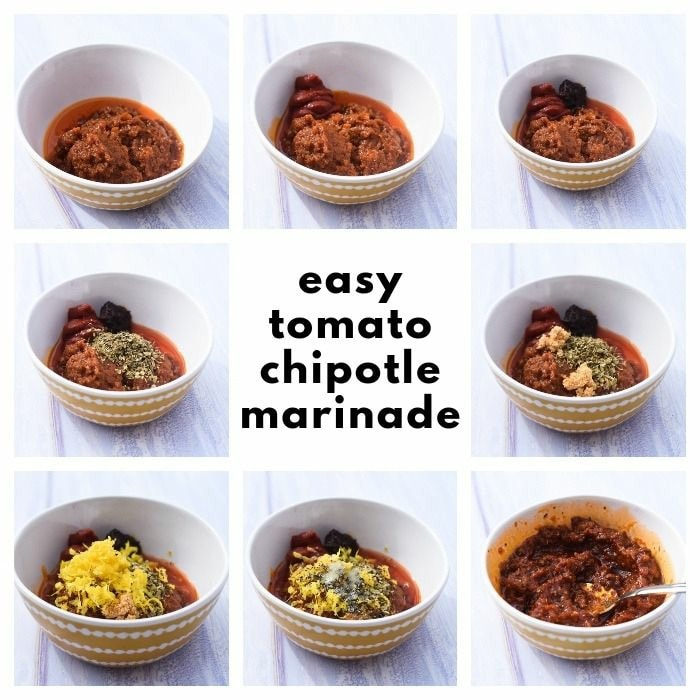 Making chipotle marinade with step-by-step photos