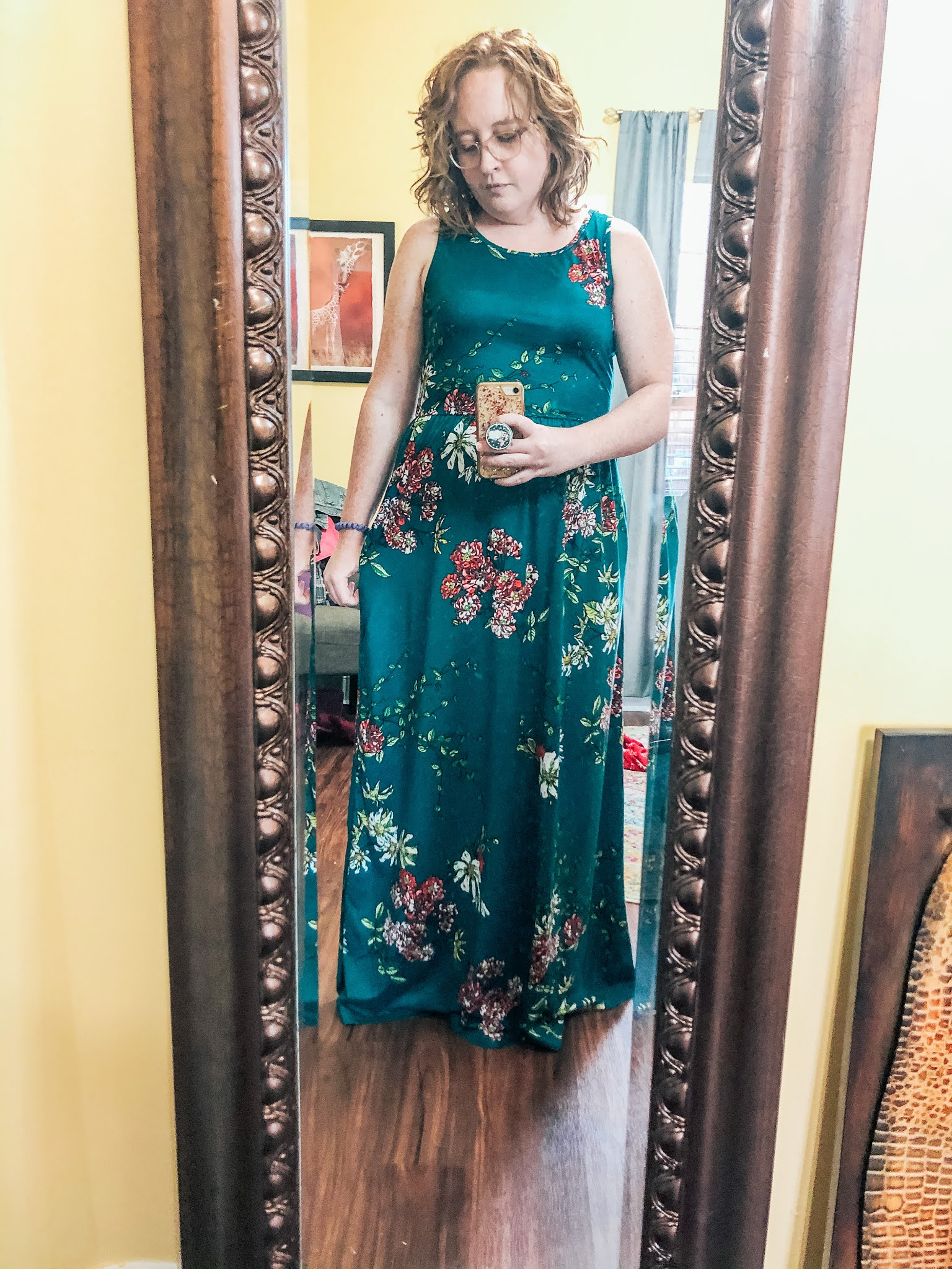 green-floral-maxi-dress