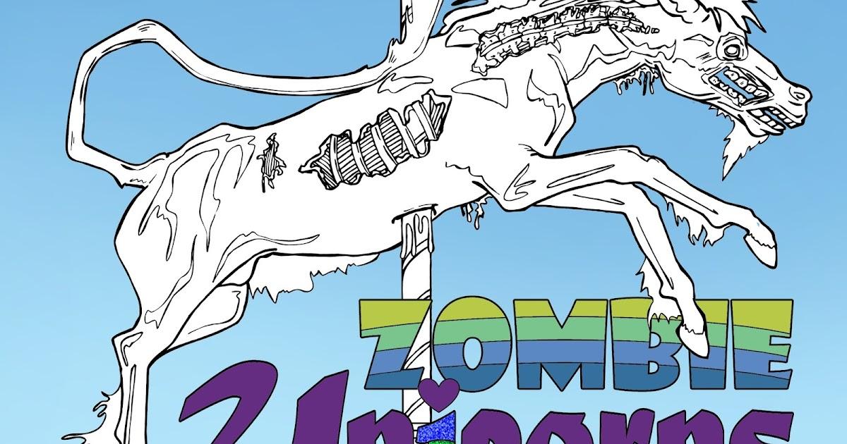 Zombie Unicorns Coloring Book