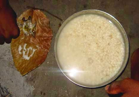 da madi,rice water santali food