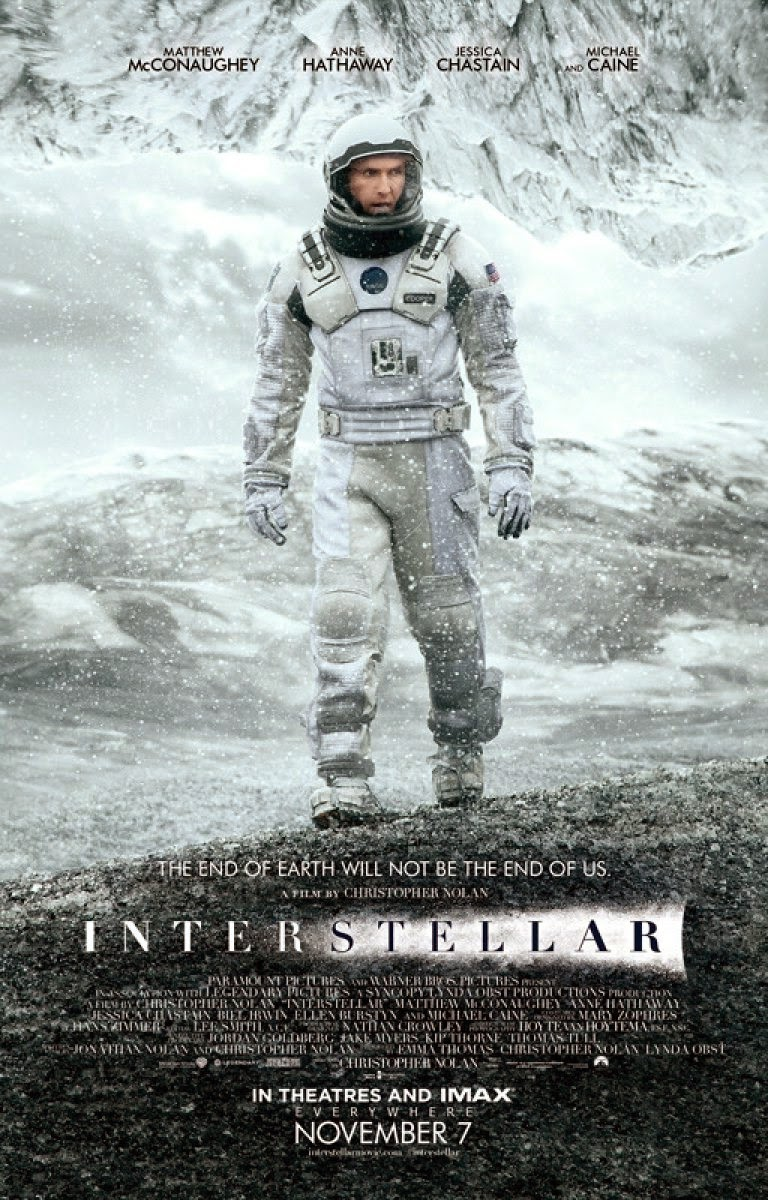 Interstellar Movie Poster, Directed by Christopher Nolan, Starring Matthew McConaughey