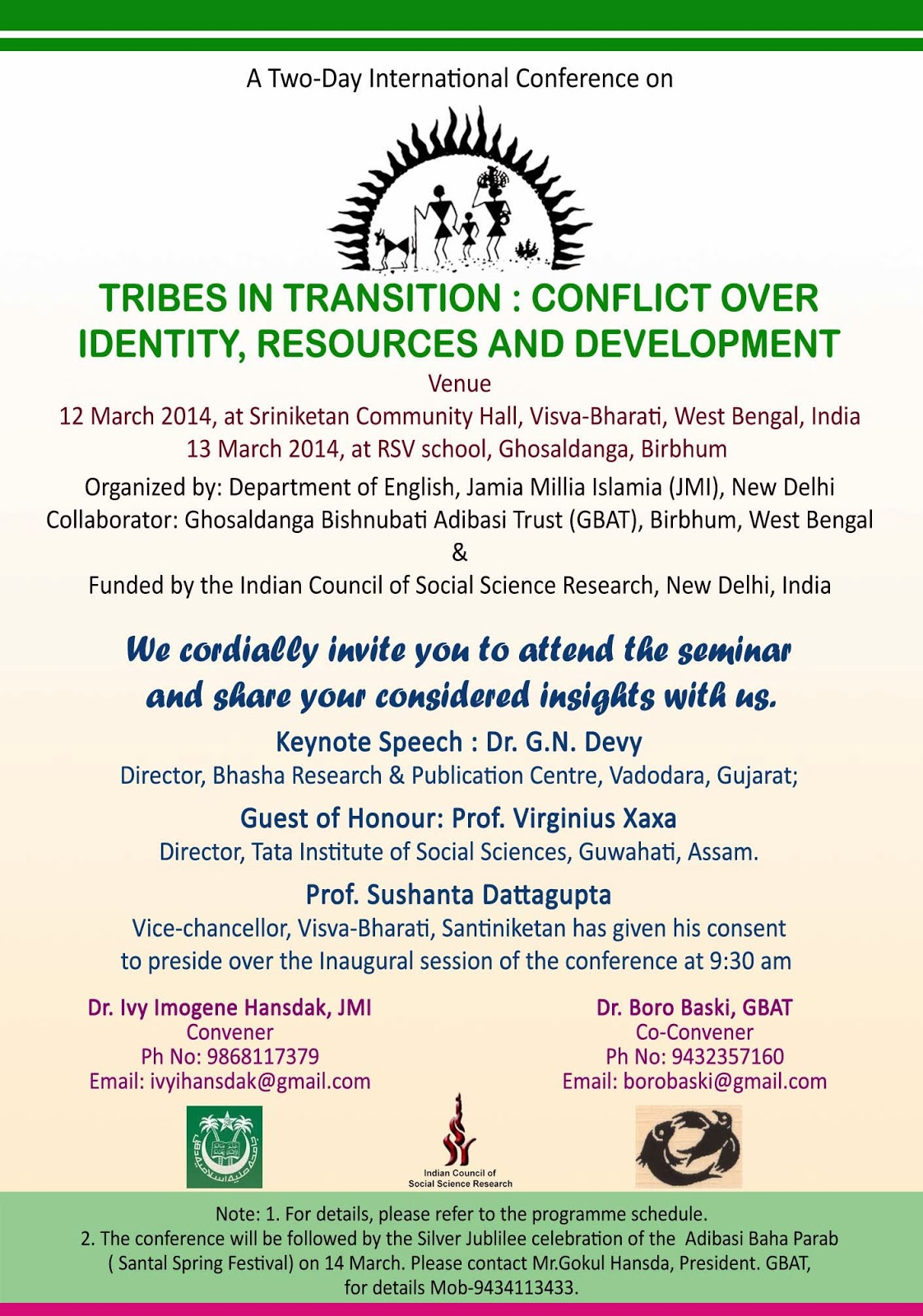 Invitation For Corporate Cricket Tournament: Tribes In Transition: Conference Invitation Card