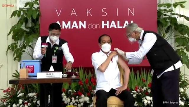 Presiden Jokowi Orang Pertama di Suntik Vaksin Covid-19