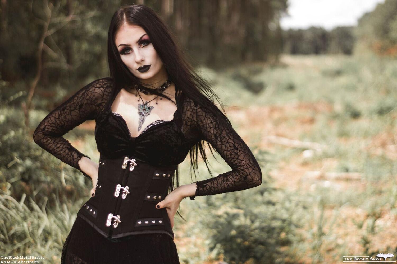 The Gothic Shop Blog: C-Lock Corset - The Black Metal Barbie