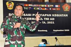 TNI AD selenggarakan Sosialisasi bid Kermamil TA. 2020 di Kodiklatad