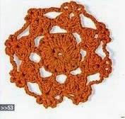 Flor círcular a Crochet