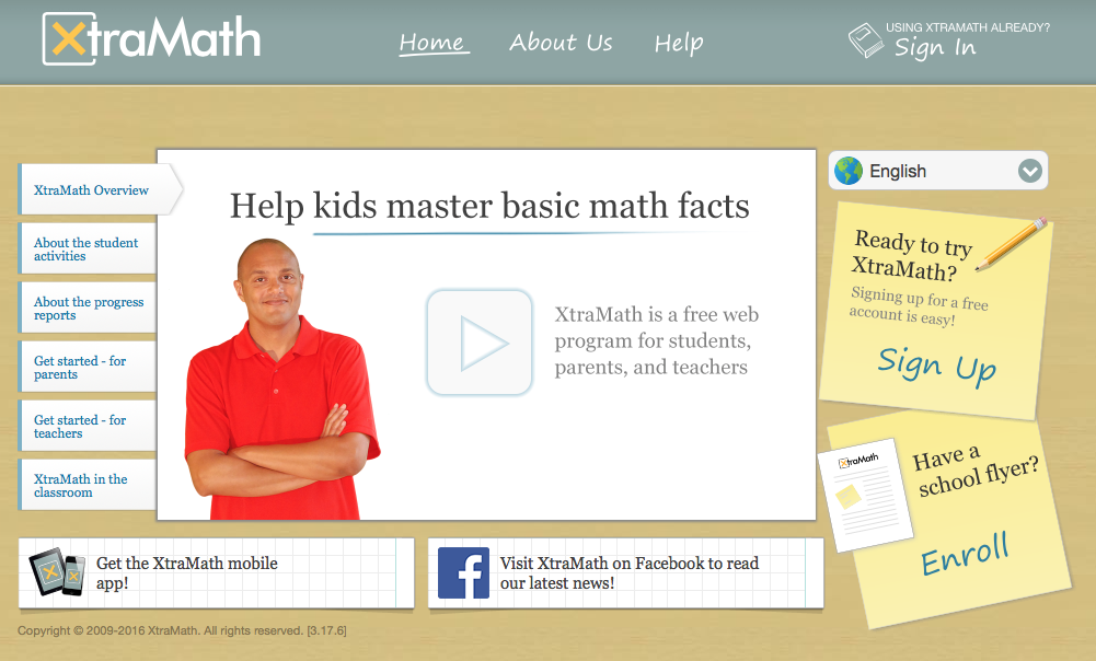 Time to Talk Tech Xtramath learn math facts in under 5