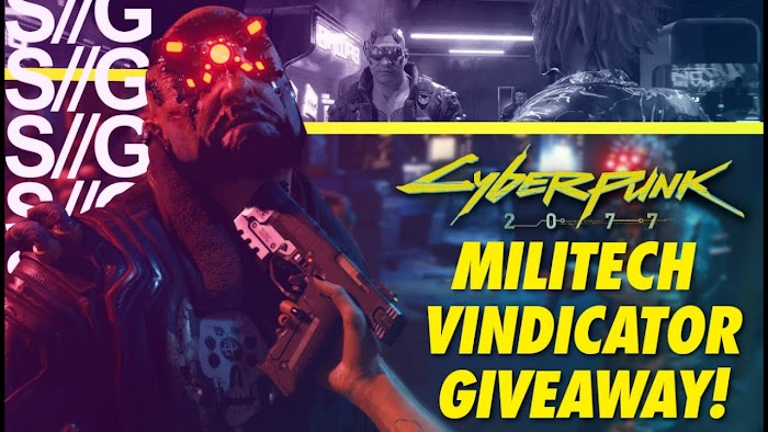 Enter To Win a the Cyberpunk 2077 Militech Vindicator Replica and Gaming Keyboard ( Worth Over : $160-$250+)
