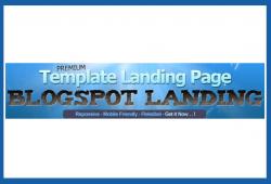 "Template Landing Page Blogspot ""BLOGSPOT LANDING"""