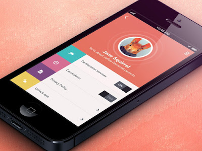 Flat Design In Mobile Phone
