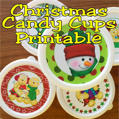 Treat everyone you meet this Christmas with a fun Christmas candy cup.  You can make lots of them to share with this cheap project and free printable for the Christmas stickers.  You'll certainly be on Santa's good list now!