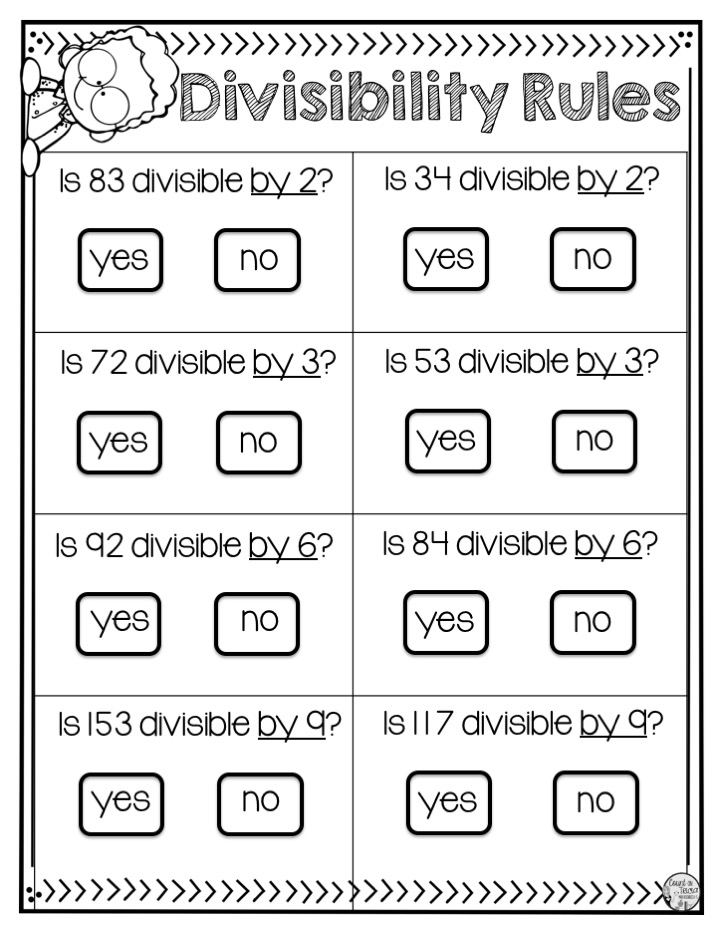 Count On Tricia 4 Divisibility Rules Every Student Should Master With Freebies