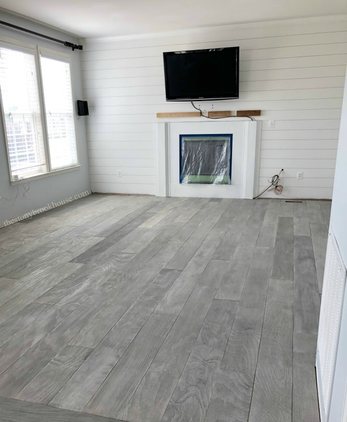 The Best DIY Plywood Floor - A Pinterest Fail Turned Into A Win!