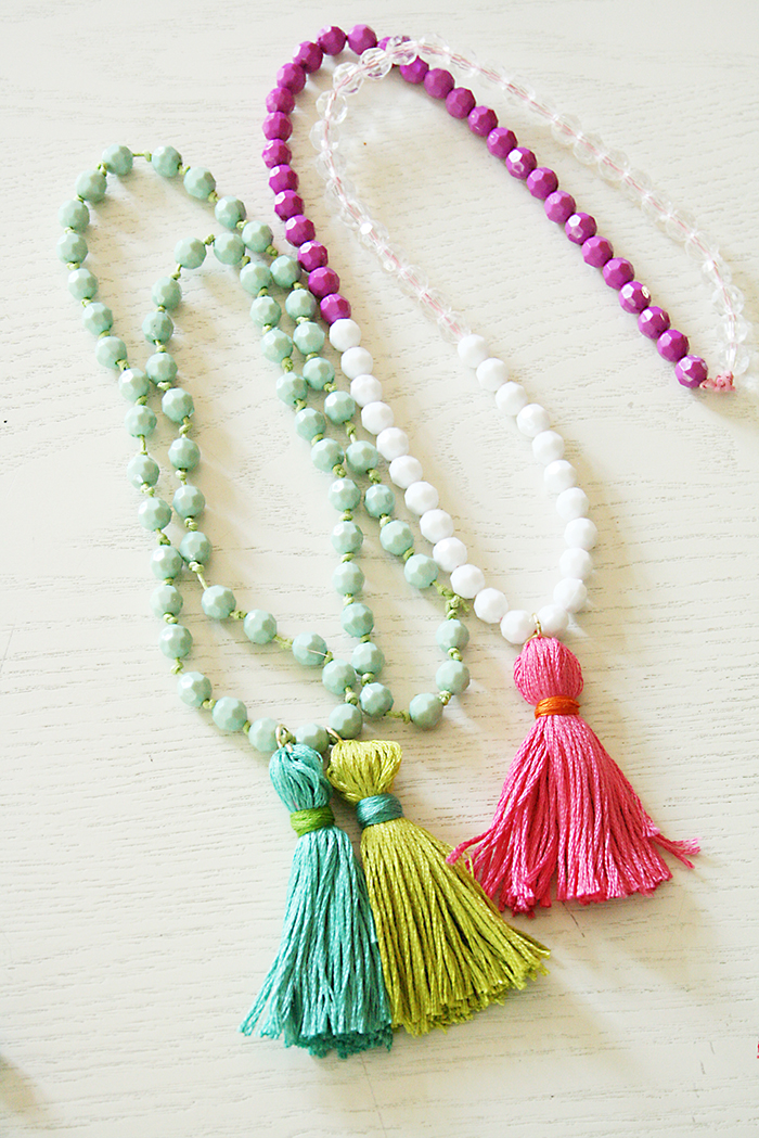 Back to school crafts diy tassel necklaces darling for Michaels crafts jewelry supplies