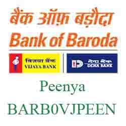 Vijaya Baroda Bank Peenya Branch New IFSC, MICR