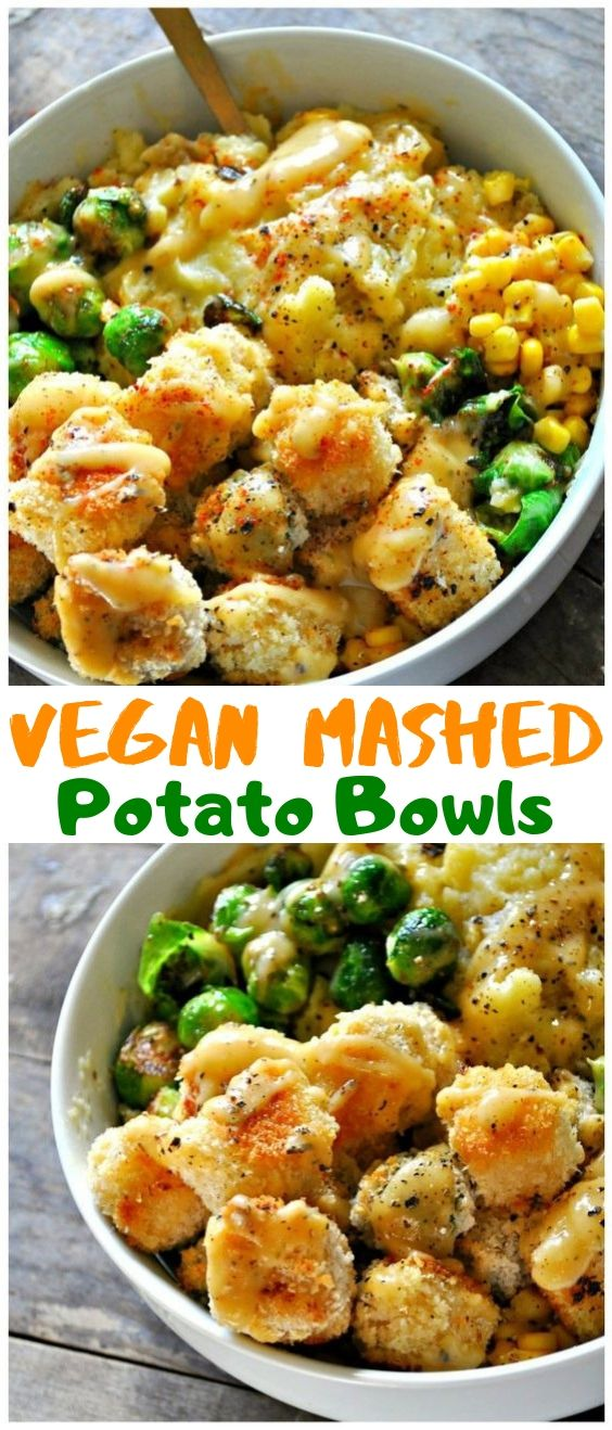 Easy Vegan Mashed Potato Bowls Easy Vegan Mashed Potato Bowls #vegan #vegetarian #healthyrecipes