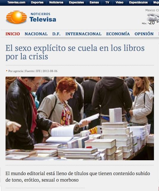 TELEVISA   El mundo editorial está lleno de títulos que tienen contenido subido de tono, erótico, sexual o morboso