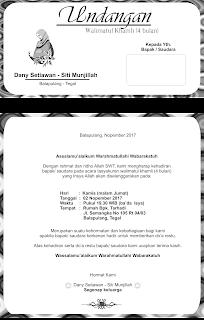 undangan walimatul hamli
