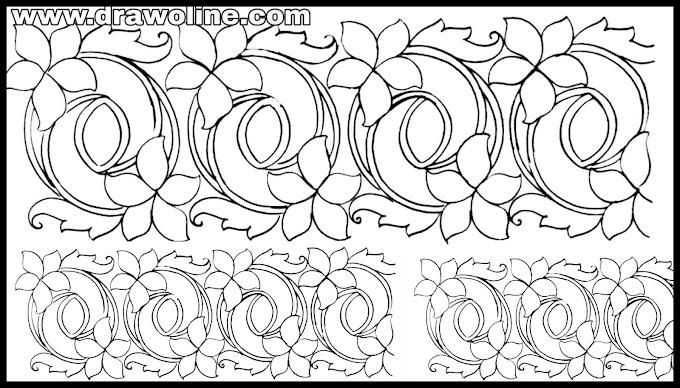 saree border designs for embroidery,saree border design pictures, border design drawing Embroidery
