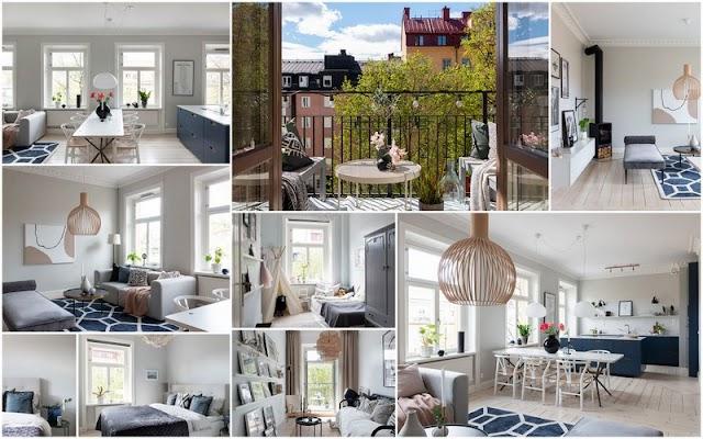 ΞΕΧΩΡΙΣΤΑ ΣΠΙΤΙΑ: Μοντέρνο Διαμέρισμα σε Άσπρο-Μπλε