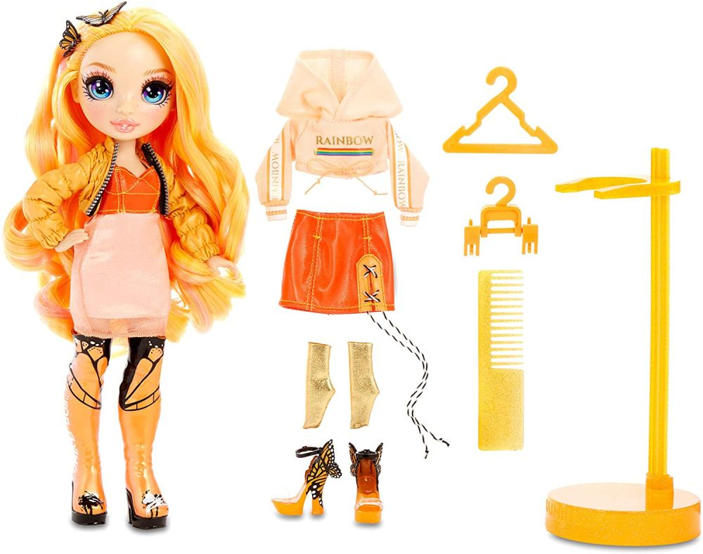 Кукла Rainbow High Poppy Rowan с бабочками