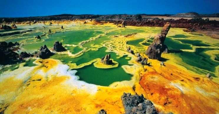 Bu zehirli gayzer, Danakil Çölü olarak adlandırılan bir bölgede yer almaktadır.