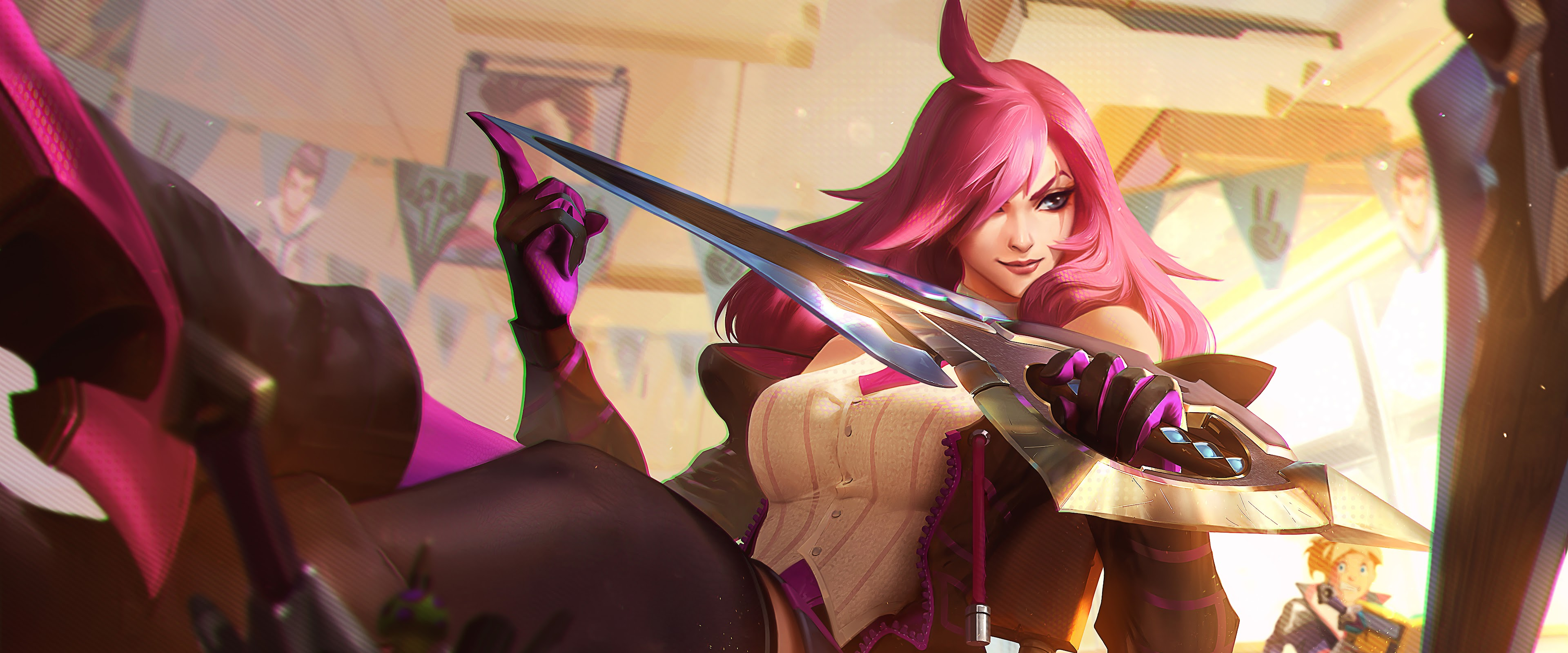 Battle Academia Katarina Splash Art Lol 8k Wallpaper 76