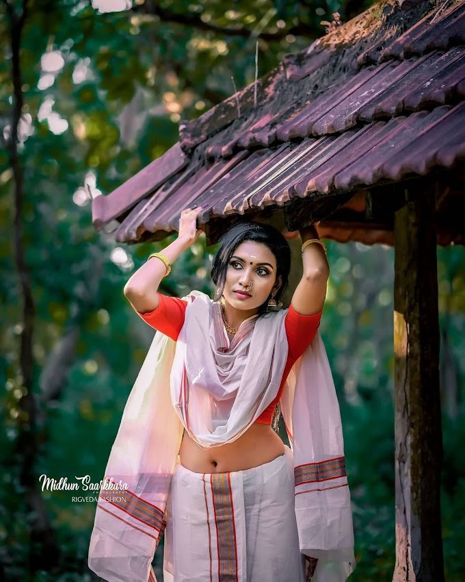 Akhila Pushpangathan In Traditional Kerala Style Photoshoot