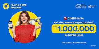 booking tiket pesawat dapat cashback