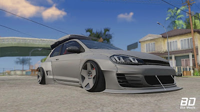 VW Golf R Pandem Rocket Bunny para GTA San Andreas - Frente