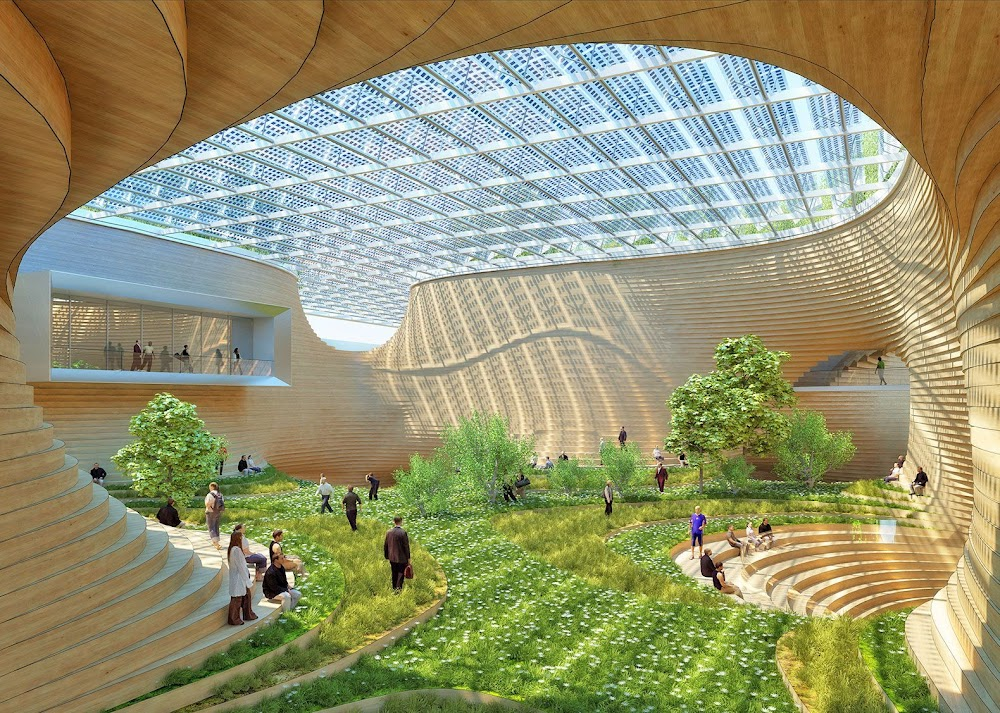 Underground atrium on Mars by Vincent Callebaut
