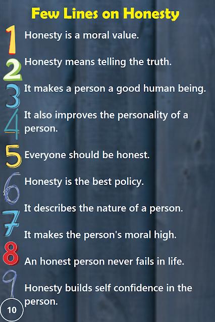 Short 10 Lines Essay on Honesty