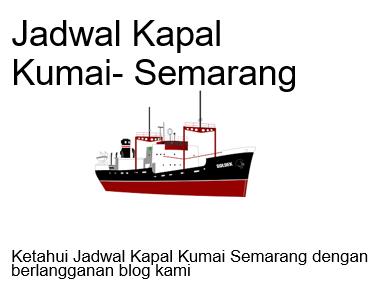 jadwal kapal kumai semarang