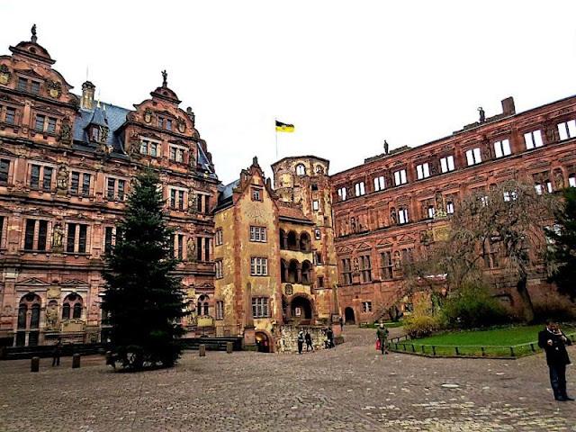 Vila do castelo de Heidelberg