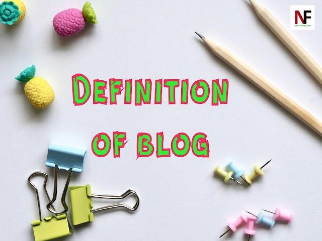 Definition of blog
