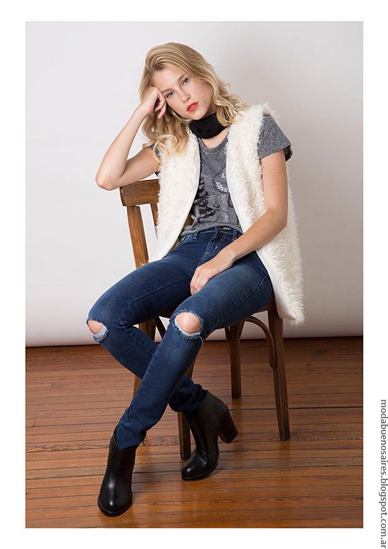Moda invierno 2016 ropa de mujer Chalecos de moda mujer 2016 Nuara.