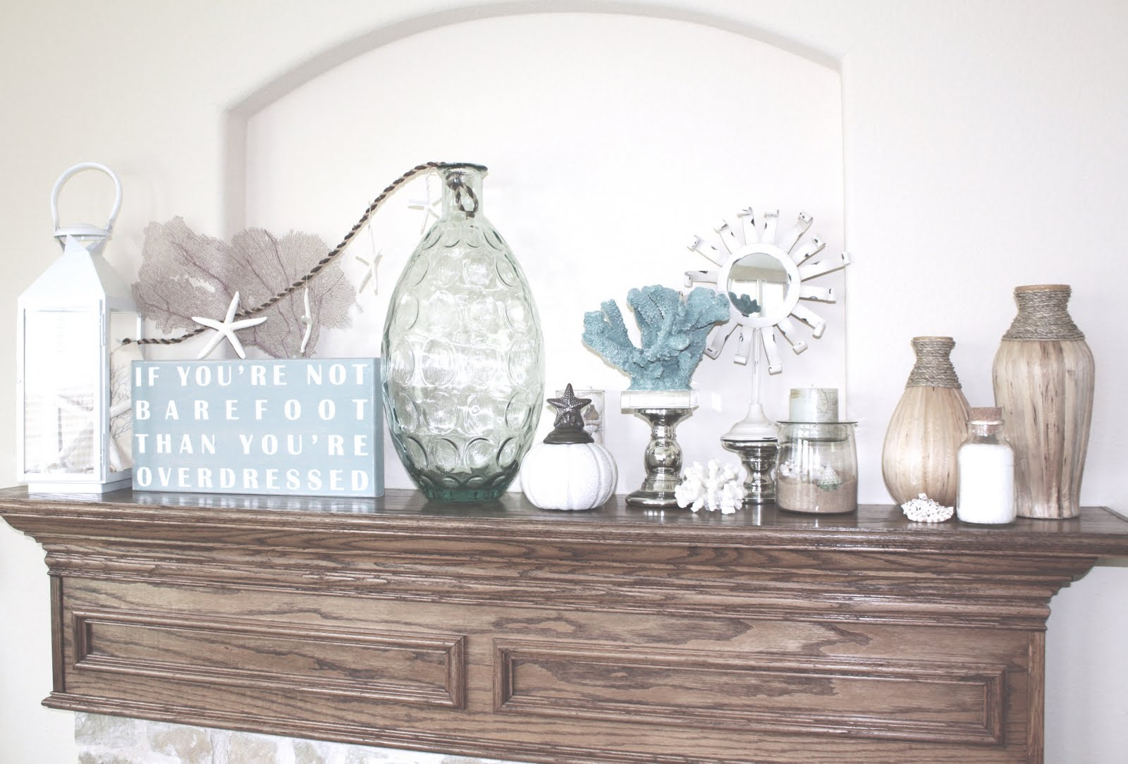 Urban Farmhouse My Coastal Summer Mantel