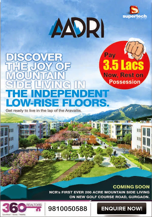 Call Us Now- 9810050588: Supertech Aadri , Luxury floors launching in sector 79 Gurgaon