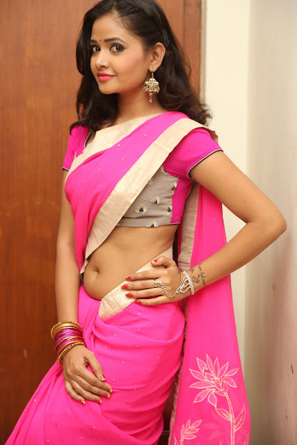 Shreya Vyaas Cute Young Beauty in lovely Pink Saree