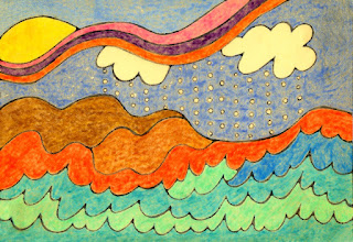 original colors of beach brights painting
