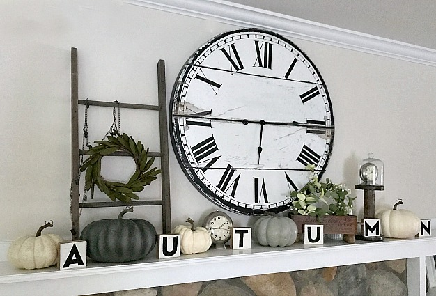 How to make Blocks for an autumn mantel