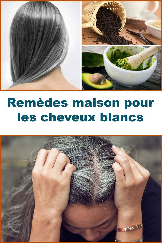 remèdes maison pour les cheveux blancs