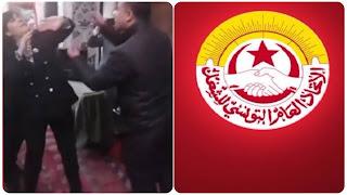 اتحاد الشغل يدين اعتداء العنف الذي تعرضت له عبير موسي في مجلس النواب من طرف سيف الدين مخلوف